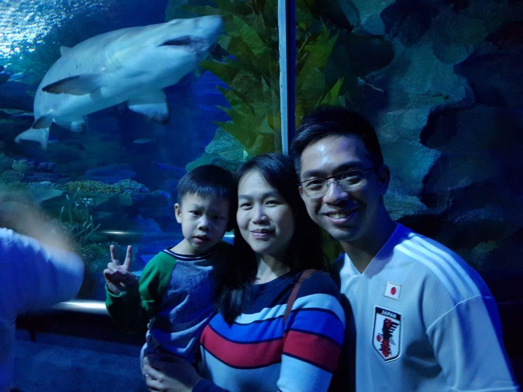 White Lodge family at Aquaria